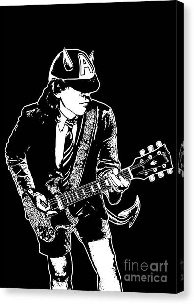 Ac Dc Canvas Print - Acdc No.03 by Geek N Rock