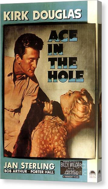 Ace In The Hole Film Noir Canvas Print
