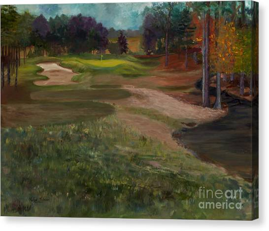 Hole In One Canvas Print - Aces In The Hole By Marilyn Nolan-johnson by Marilyn Nolan-Johnson