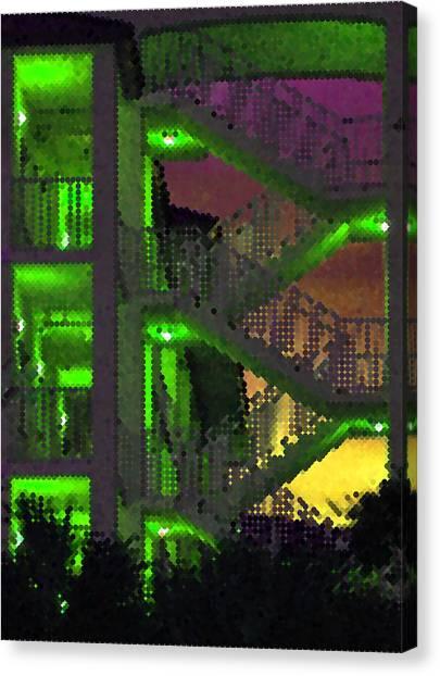Acid Glow Canvas Print