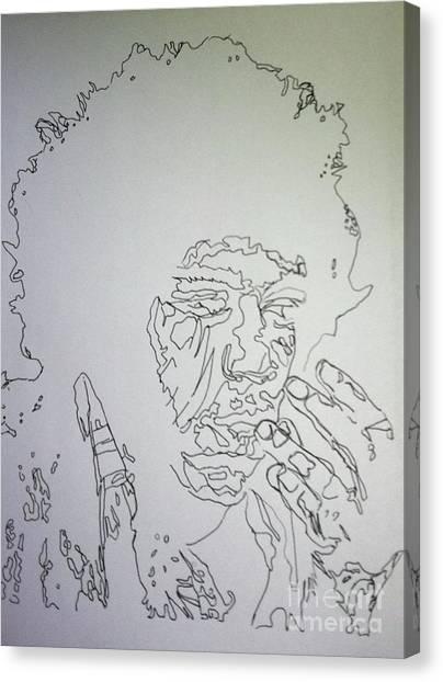 Acid Trip Jimi Canvas Print
