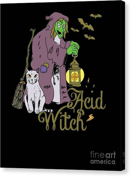 Canvas Print - Acid Witch Halloween Costume by Thomas Larch