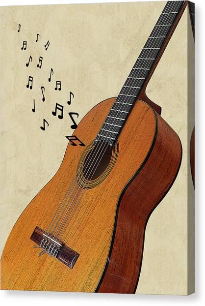 Classical Guitars Canvas Print - Acoustic Guitar Sounds by Gill Billington