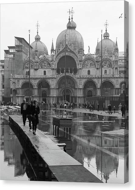 Acqua Alta, Piazza San Marco Canvas Print