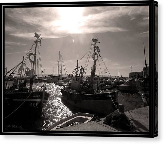 Acre  Fishing Port Canvas Print