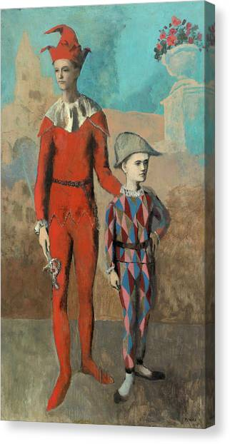 Pablo Picasso Canvas Print - Acrobat And Young Harlequin by Pablo Picasso