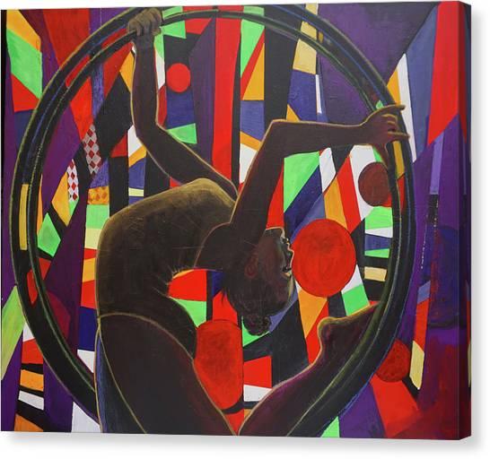 Acrobat In Ring Canvas Print