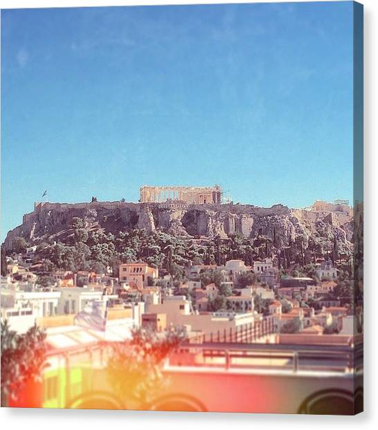 The Acropolis Canvas Print - #acropolis #athens #greece #travel by Emma O Brien