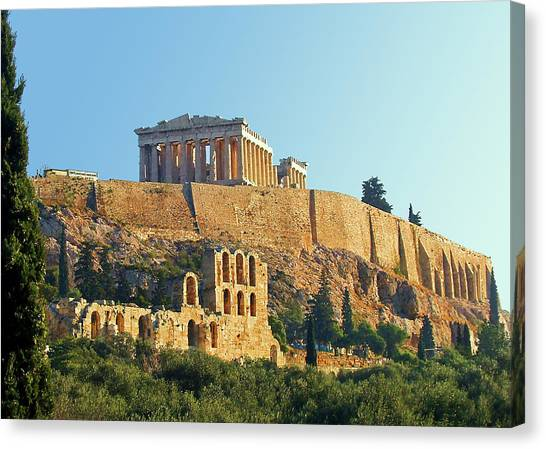 The Parthenon Canvas Print - Acropolis by Ellen Henneke