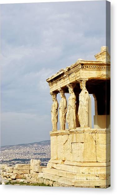 The Acropolis Canvas Print - Acropolis Of Athens by HD Connelly