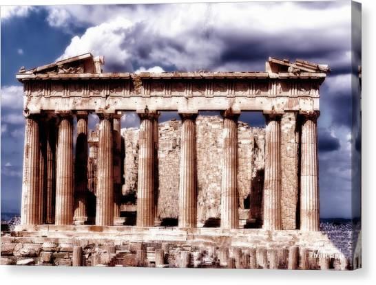 Acropolis Of Greece Canvas Print