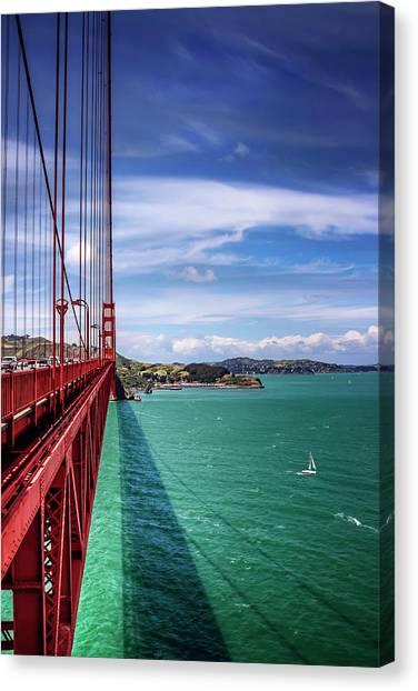 American Steel Canvas Print - Across The Golden Gate Bridge San Francisco by Carol Japp
