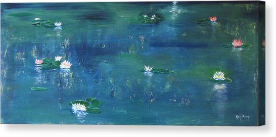 Across The Lily Pond Canvas Print