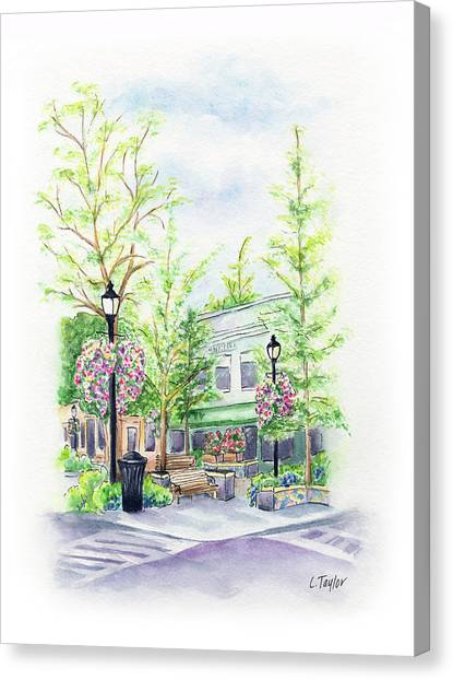 Across The Plaza Canvas Print