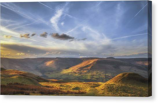 Peak District Canvas Print - Across To Edale by Chris Fletcher