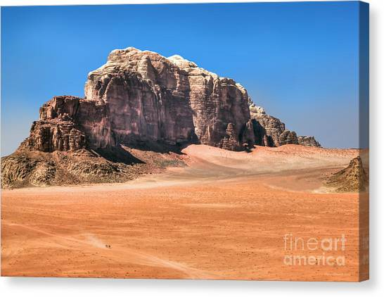 Across Wadi Rum Canvas Print