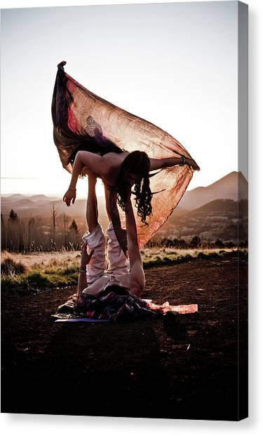 Acroyoga Curves Canvas Print