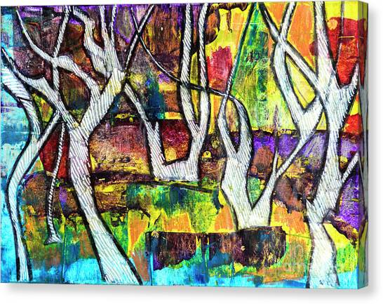 Acrylic Forest  Canvas Print