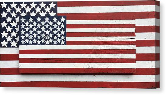Jasper Johns Canvas Print - American Flag by Carrie Fiorella