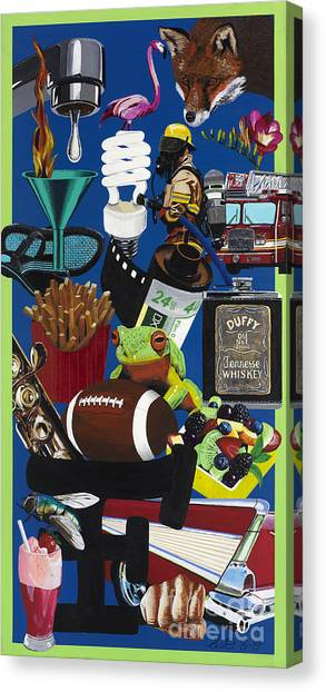 Acrylic Painting Letter F Canvas Print by Scott Duffy