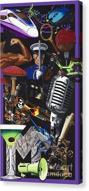 Acrylic Painting Letter M Canvas Print by Scott Duffy