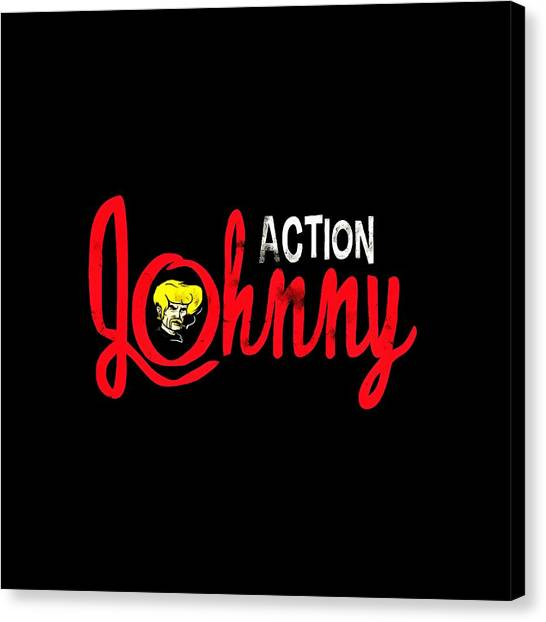 Keanu Reeves Canvas Print - Action Johnny by Cindy Ell