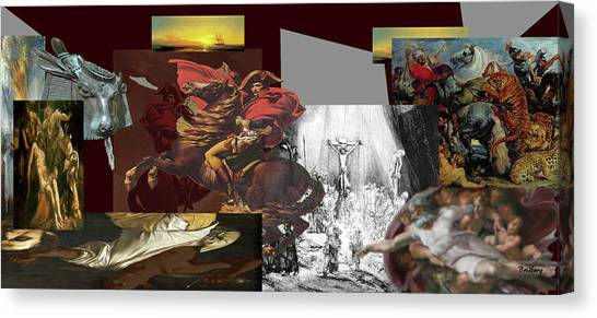 Canvas Print featuring the digital art Acts Of War by David Bridburg