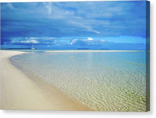 Adagio Alone In Ouvea, South Pacific Canvas Print