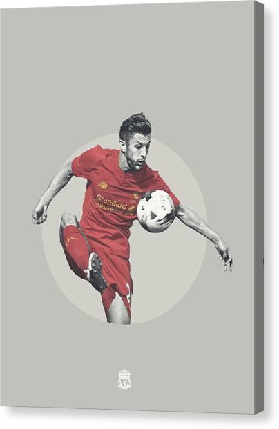 Liverpool Fc Canvas Print - Adam Lallana Liverpool Fc by Bryan Dermody