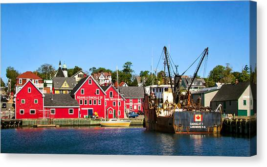 Adams And Knickle Fishing Company Canvas Print