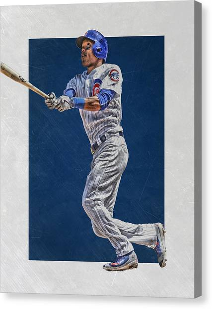 Baseball Teams Canvas Print - Addison Russell Chicago Cubs Art by Joe Hamilton