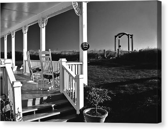 Addy Sea Front Porch Canvas Print