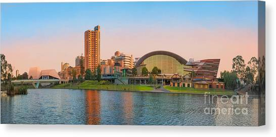 Adelaide Riverbank Panorama Canvas Print