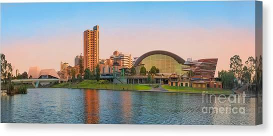 Adelaide Riverbank Panorama Canvas Print
