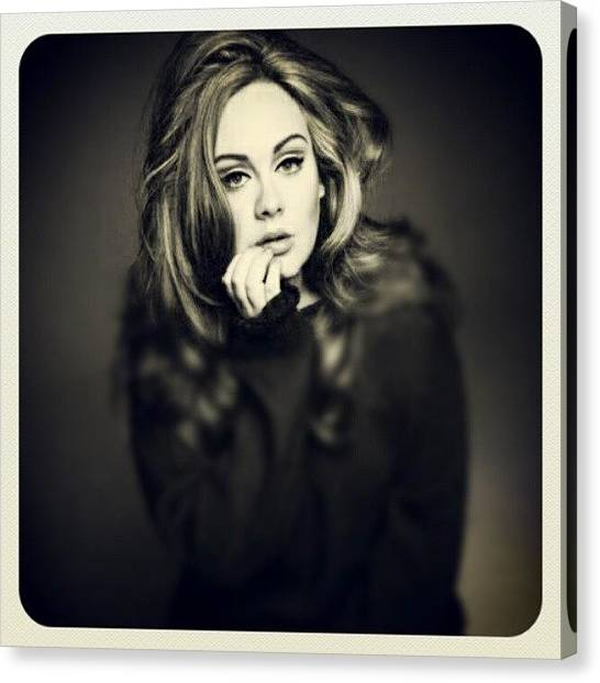 Bands Canvas Print - #adele #beautiful #sexy Fave Pic Of by Steve G