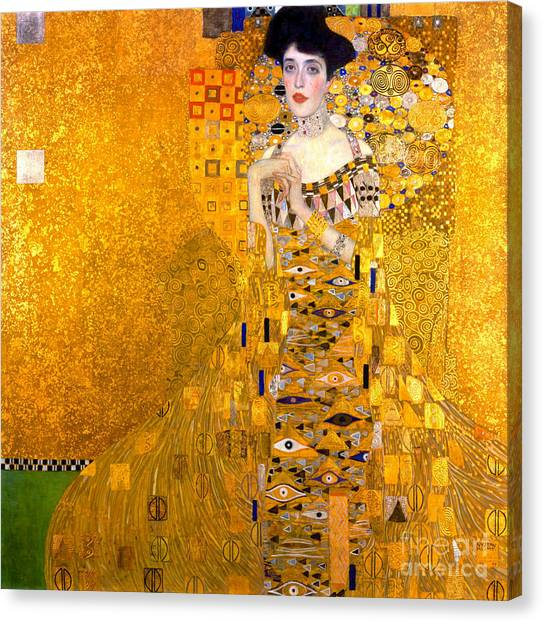 Adele Canvas Print - Adele Bloch-bauer Portrait 1907 by Padre Art