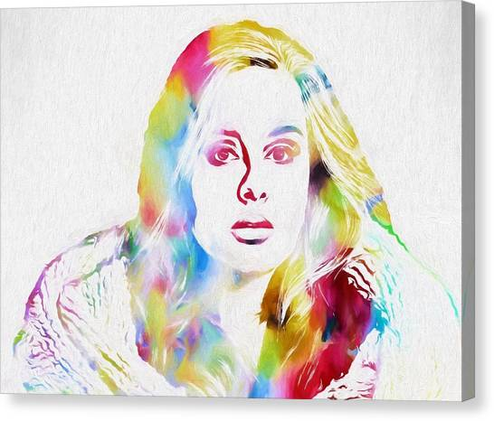 Adele Canvas Print - Adele by Dan Sproul