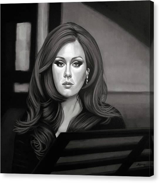 Adele Canvas Print - Adele Mixed Media by Paul Meijering