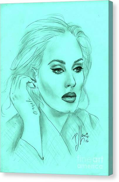 Adele Canvas Print - Adele by PJ Lewis
