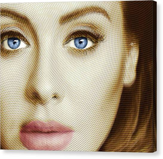 Adele Canvas Print - Adele Painting Circle Pattern 1 by Tony Rubino