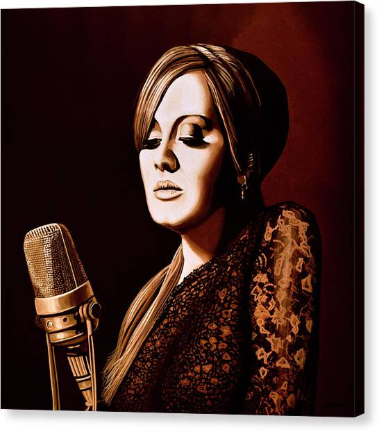 Adele Canvas Print - Adele Skyfall Gold by Paul Meijering
