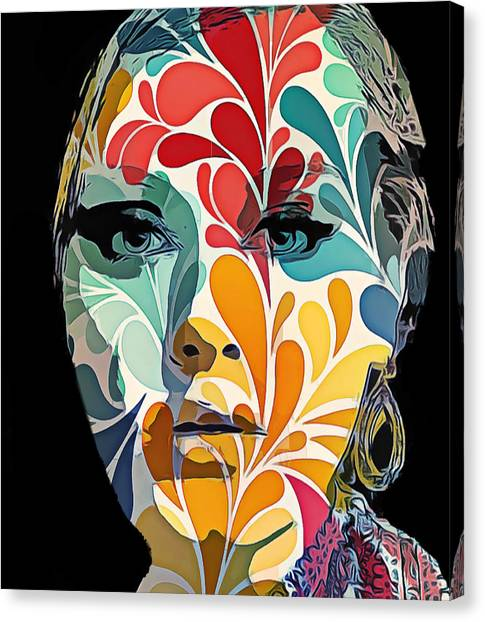 Adelle In Flowers Canvas Print