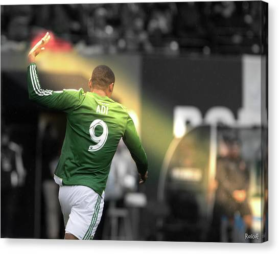 Portland Timbers Canvas Print - Adi Lightbeam  by Roscoe Myrick