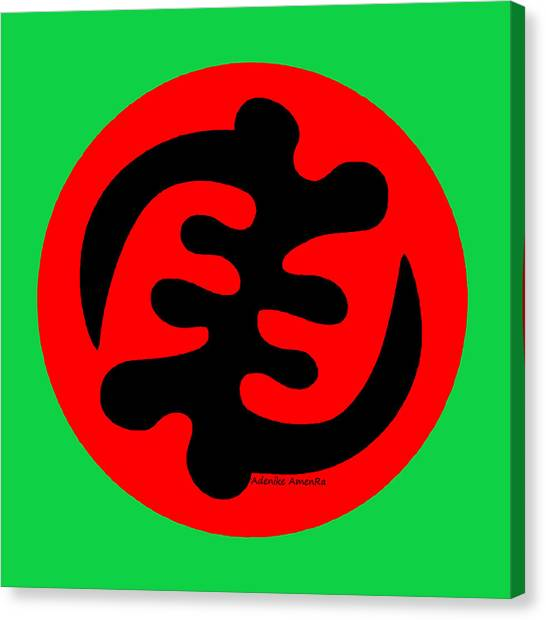 Adinkra Symbol Gye Nyame Except God Only God Canvas Print