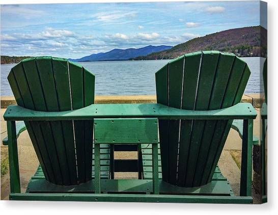 Adirondack Chair For Two Canvas Print