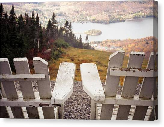 Adirondack Chair On Mountain Top Canvas Print by Angela Auclair