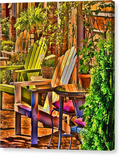 Adirondack Chairs Canvas Print