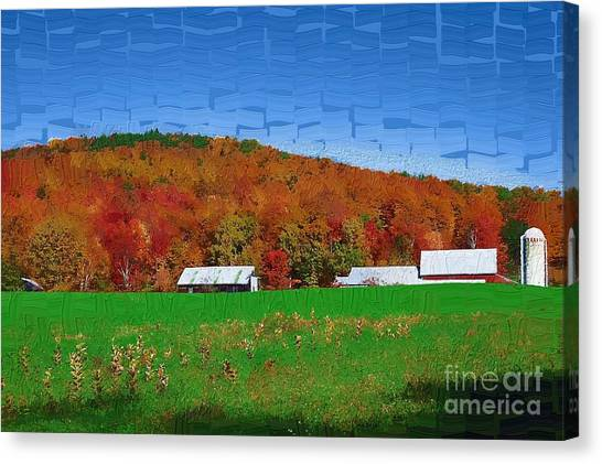 Adirondack Rural Canvas Print by Diane E Berry
