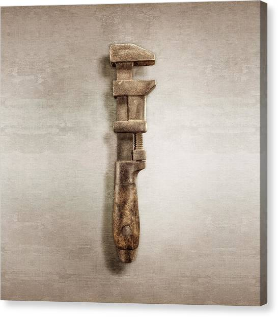 Wrenches Canvas Print - Adjustable Wrench Right Face by YoPedro