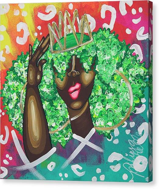 Heart Canvas Print - Adjusting My Mfkn Crown by Aliya Michelle